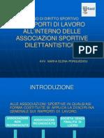 i Rapporti Di Lavoro Negli Enti Sportivi29.10.09