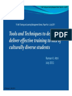 Tools and Techniques to design and deliver effective training to mix of  culturally diverse students