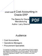 4762800 Standard Cost Accounting in Oracle ERP