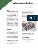 Maze Solving Algorithms