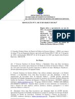 Resolução nº 27 - projetos especiais 2011 - 25-03-2011