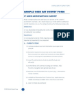 IT User Satisfaction Survey Form
