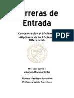 Barreras de Entrada - Microeconomía II