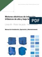WEG Motor de Induccion Trifasico de Alta y Baja Tension Rotor de Jaula 11171351 Manual Espanol