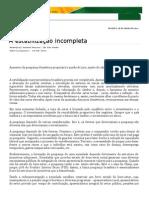 1º A Estabilização incompleta - Samuel Pessoa