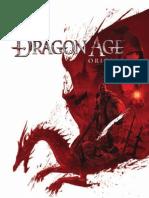 Dragon Age PC Manual (US)