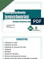 Presentación de la Secretaría de Bienestar Social.