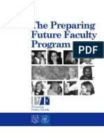 Bb-OrG. Preparing Future Faculty Program (PFF). Brochure