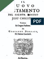 Il Nuovo Testamento del Signor nostro Jesu Christo, tradotto in lingua italiana da Giovanni Diodati, 1665