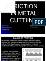 Friction in Metal Cutting