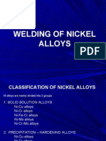 Welding of Nickel Alloys