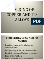Welding of Copper and Its Alloys