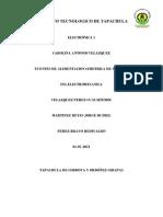Instituto Tecnologico de Tapachula Electronic A