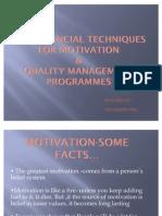 Non Financial Techniques for Motivation