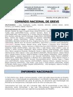Informe 10 do Comando Nacional de Greve (5.jul.2011)