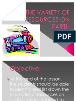The Variety of Resources on Earth