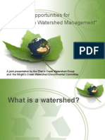"""Issues and Opportunities for Charlottetown Watershed Management"""