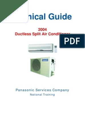 Manual Panasonic   Air Conditioning   Hvac