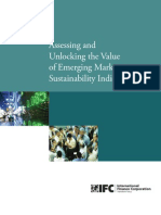 Assessing and Unlocking the Value of Emerging Markets Sustainability Indices