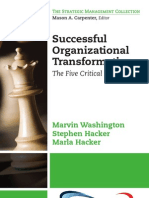 Successful Organizational Transformation