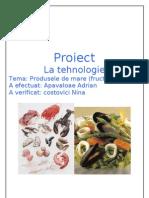 Proiect Tehnologie #Fructe de Mare#