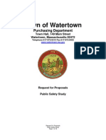 Watertown, MA RFP Public Safety Study 04.08.11