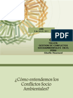 Giselle Huamani Gestion de Conflictos Socioambientales Periodistas