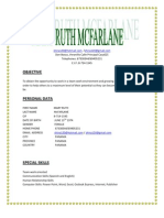Maryruth Mcfarlane English Resume