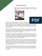 TIPOS DE AFILADA