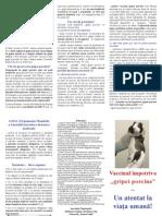 Vaccinul Impotriva Gripei Porcine - Un Vaccin Periculos - Pliant Gripa Porcina - Color