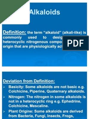 Alkaloids Introduction | Alkaloid | Chemical Compounds