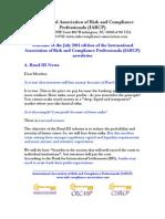 Risk Compliance News July 2011