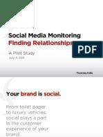 Social Media Monitoring - Finding Relationships