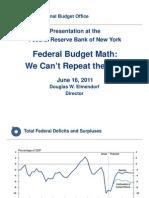 US Congressional Budget Office (CBO) Presentation