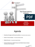 Fast Food Industry Analysis2