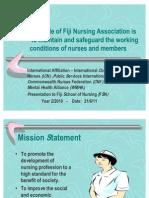 The Role of Fiji Nursing Association
