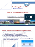 Balawant Joshi - Feed in Tariff Experience in India