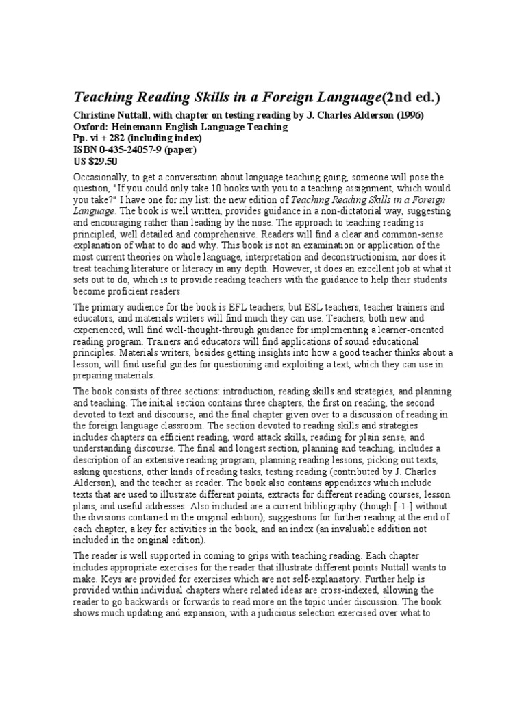 literacy narrative about foreign language It might be natural for you to read a lot in your mother tongue, but this is very different from the kind of reading you might do in a foreign language textbook in your textbook, you read short passages of text, which you study in detail with the aim of understanding every word.