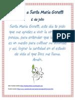 Oración a Santa María Goretti