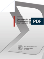 Banking Fragility and Distress (Pesola)