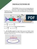 ELECTROMAGNETISMO III, LEY DE INDUCCIÓN DE FARADAY