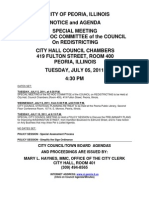 Peoria Redistricting Committee Packet