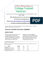 IFRA College Football Historian 5-June 2011 Vol. 4 No. 5