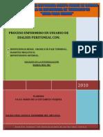 Proceso Enfermero de Dialisis Peritoneal,Diabetes e Hipertencion Arterial.