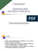 Organizacijska Kultura v Podjetju (prezentacija)