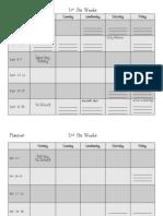 Six Weeks Planner 11-12
