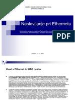 Naslavljanje pri Ethernetu (prezentacija)