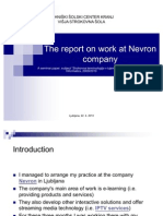 The Report on Work at Nevron Company (prezentacija)