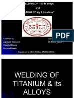 Final Welding of Ti Alloys and Mg Alloys