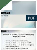 First Aid Level 1 Power Point Presentation